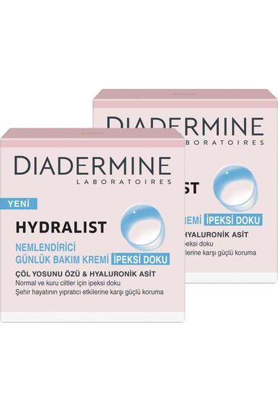 Diadermine Hydralist Nemlendirici Bakım Kremi İpeksi Doku 50 ml x 2 Paket