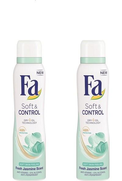 Fa Soft & Control Deo Spray 150 ml 2'li Paket