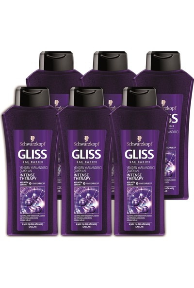 Gliss Şampuan Intense Therapy 525Ml 6'Lı