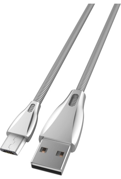 Ktools Micro USB Çelik Rope 2.4A 1M Data Kablosu Hızlı Şarj