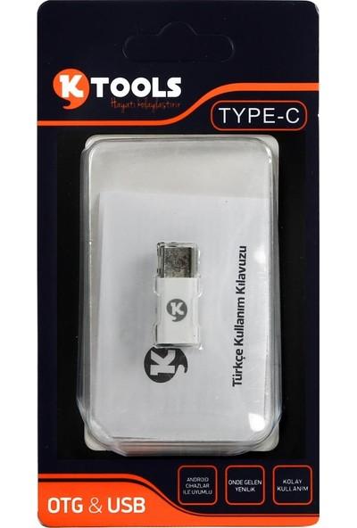 Ktools OTG Kablosu Type C Dönüştürücü ve Hızlı Veri Transferi
