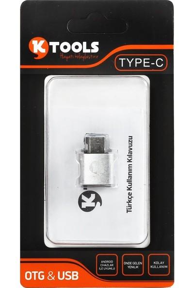 Ktools OTG Kablosu Type C Dönüştürücülü Hızlı Veri Transferi