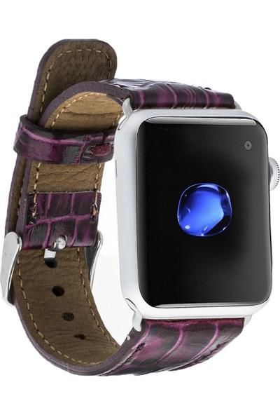 Bouletta Apple Watch Deri Croco Kordon 42/44mm Yk02 Mor