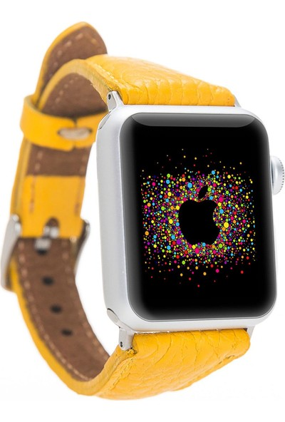 Bouletta Apple Watch Deri İnce Kordon 38/40mm-FL12 Sarı