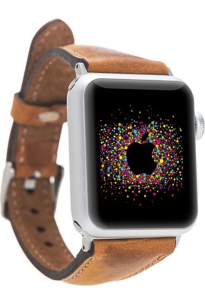 Bouletta Apple Watch Deri İnce Kordon 38/40mm-G19 Taba