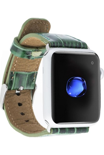 Bouletta Apple Watch Deri Croco Kordon 42/44mm Yk04 Yeşil