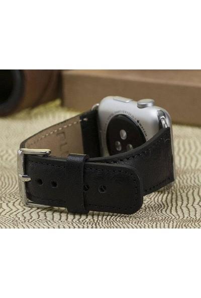 Bouletta Apple Watch Deri Saat Kordon 42/44mm L1 Siyah
