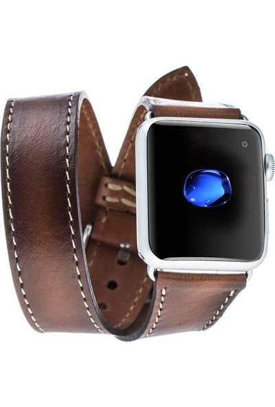 Bouletta Apple Watch Deri Çift Tur Kordon 38/40mm Taba