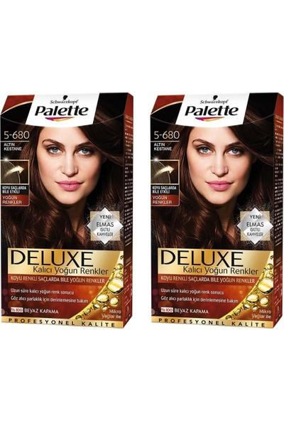 Palette Deluxe Yoğun Altın Kestane 5-680 *2 Adet