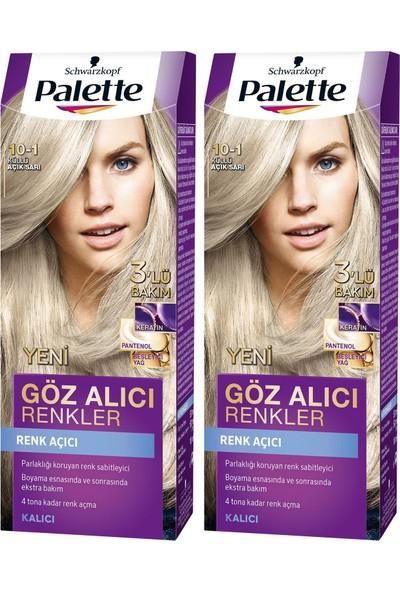 Palette Yoğun Göz Alıcı Renk Saç Boyas 10-1 Küllü Açık Sarı x 2 Paket