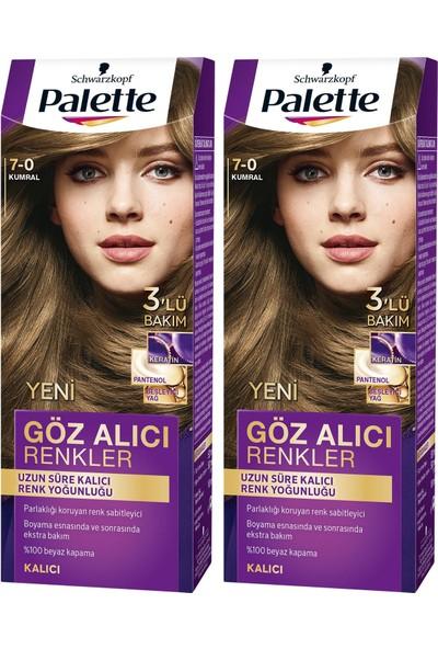 Palette Yoğun Göz Alıcı Renk Saç Boyas 7-0 Kumral x 2 Paket