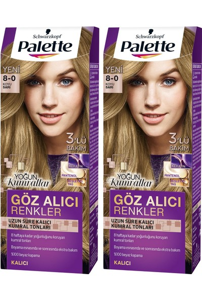 Palette Yoğun Göz Alıcı Renk Saç Boyası 7-1 Küllü Kumral x 2 Paket