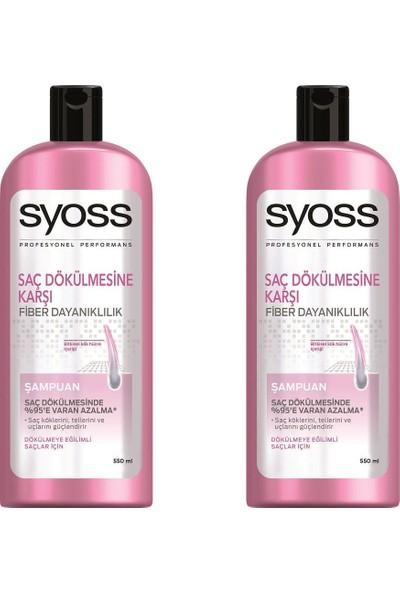 Syoss Saç Dökülmesine Karşı Şampuan 550 ml 2'li Paket
