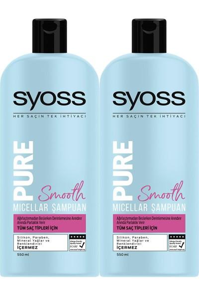 Syoss Pure Smooth Mıcellar Şampuan 550 ml x 2