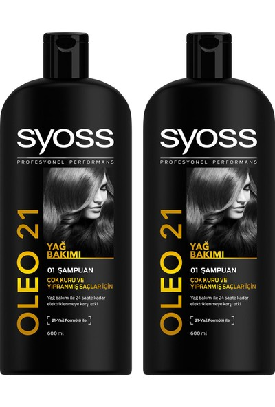 Syoss Oleo 21 Şampuan 550 ml x 2 Paket