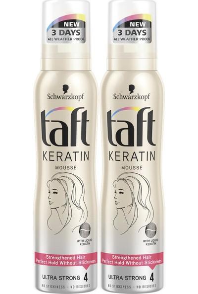 Taft Keratin Ultra Güclü Köpük 150 ml x 2 Paket