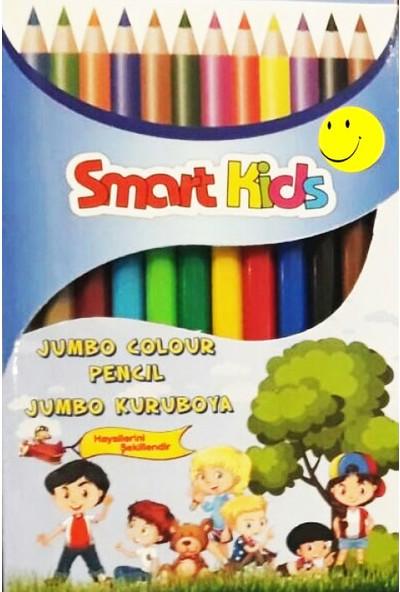 Smart Kids Jumbo Kuruboya Kalem Seti - 12 Renk