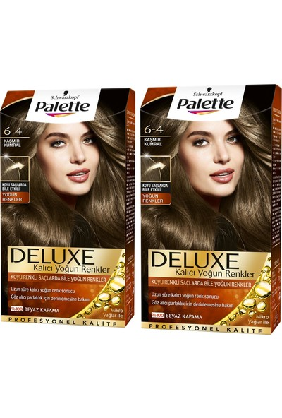 Palette Deluxe Yoğun Renkler 6-4 Kaşmir Kumral x 2 Paket