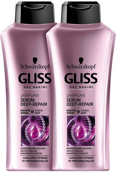 Schwarzkopf Gliss Serum Deep Repair Şampuan 525 ml x 2 Adet