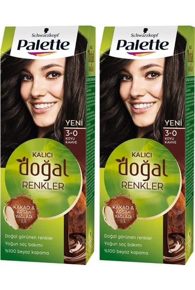 Palette Kalıcı Doğal Renkler 3-0 Koyu Kakao x 2 Paket