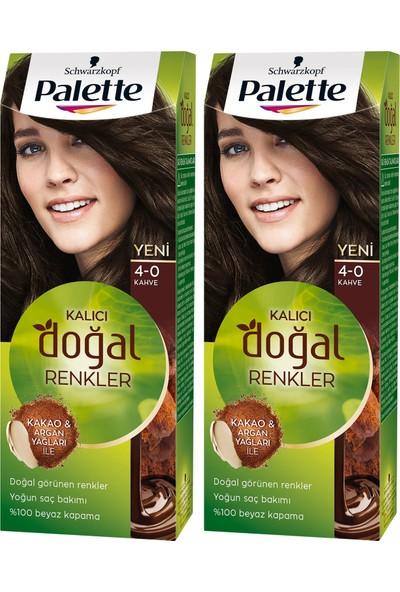 Palette Kalıcı Doğal Renkler 4-0 Amber Kahve x 2 Paket