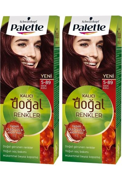 Palette Kalıcı Doğal Renkler 5-89 Gece Kızılı x 2 Paket