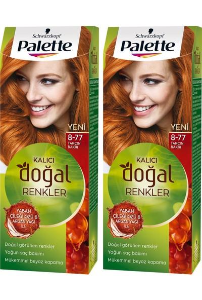 Palette Kalıcı Doğal Renkler 8-77 Tarçın Bakır x 2 Paket