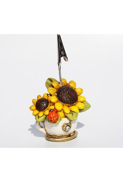 Mory Concept Masa Üstü Not Tutucu Çiçek Desenli