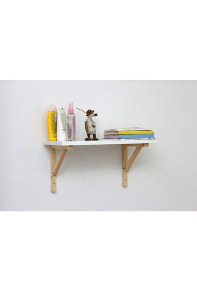 Ceebebek Ahşap Bebek Çocuk Odası Duvar Rafı Kitaplık Eğitici Montessori Raf Dekorasyon