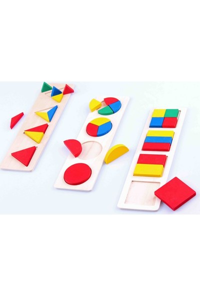 Piramigo 3 In 1 Wooden Montessori Blocks Set
