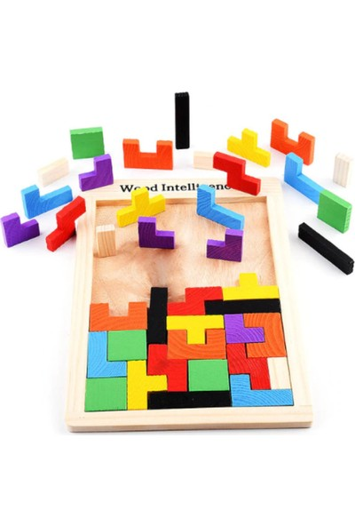 Piramigo Ahşap Tetris Blok