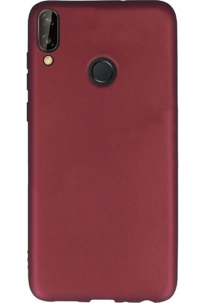 Kılıfshop Huawei P20 Lite Kılıf Silikon Premier (Mor) + Tam Ekran Cam Koruyucu
