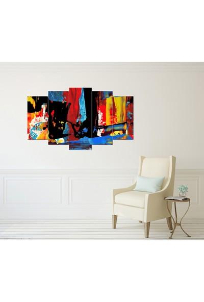 Alice Decor Renkler Dekoratif 5 Parça Mdf Tablo