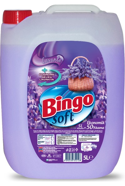 Bingo Soft Lavanta Rüzgarı Çamaşır Yumuşatıcısı 5L