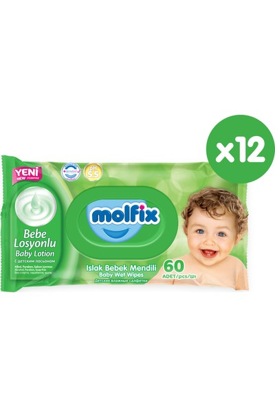 Molfix Islak Havlu Bebe Losyonlu Fırsat Paketi 720 Adet