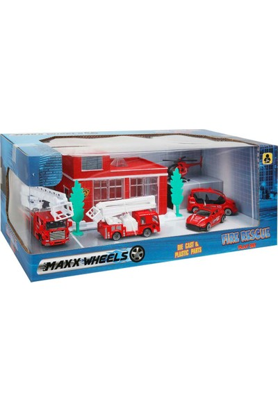 Maxx Wheels Garaj Set Polis İtfaiye Şehir 5 Araçlı S00002028