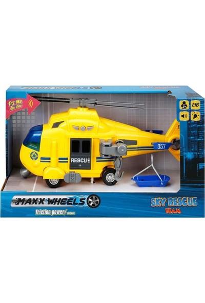 Maxx Wheels 1 16 Helikopter Sky Rescue Team Sesli Işık S00001997