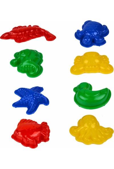 Kinetik Kum Oyun Kalıpları -8 Parça Hayvan Figürlü Oyun Kalıpları