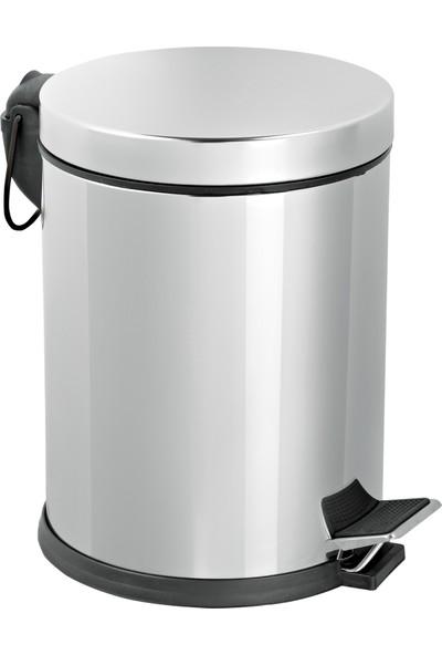 Foreca Paslanmaz Çelik Pedallı Çöp Kovası 5 Lt - Banyo Ve Ofis İçin İdeal