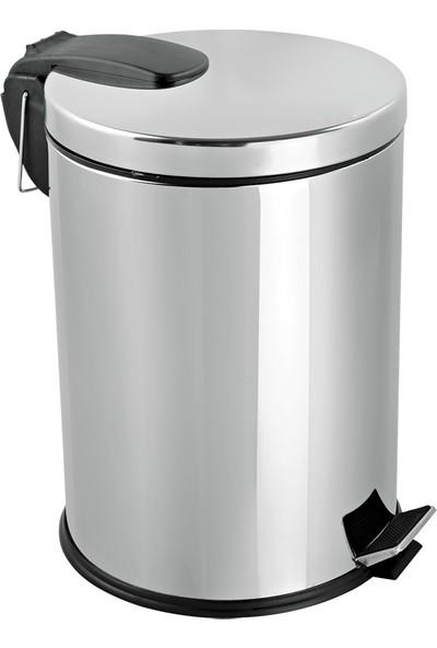Foreca Paslanmaz Çelik Pedallı Çöp Kovası 20 Lt Foreca -Banyo Ve Ofis İçin İdeal