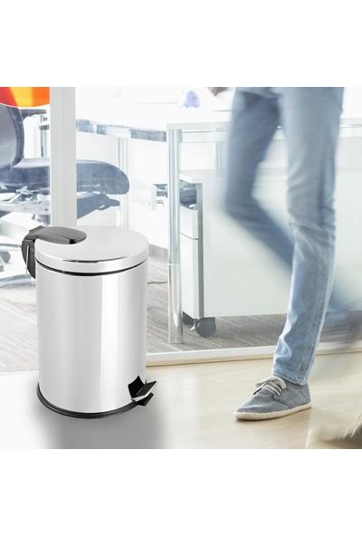 Paslanmaz Çelik Pedallı Çöp Kovası 30 Lt Foreca - Banyo Ve Ofis İçin İdeal