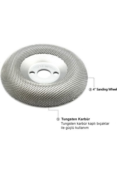 Manpa Mp21-17-4 Sanding Wheel 100 Mm Ahşap Törpü Zımpara