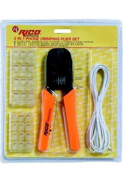 Rico 001-Rc0871 Telefoncu Bilgisayarcı Kablo Pensesi Seti Takımı
