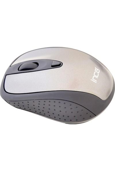 Inca IWM-200R Track Red Sensör Gri Kablosuz Ergonomik Nano Alıcılı Mouse