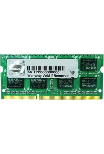G.Skill Value 8GB 1600MHz DDR3 Notebook Ram F3-1600C11S-8GSL