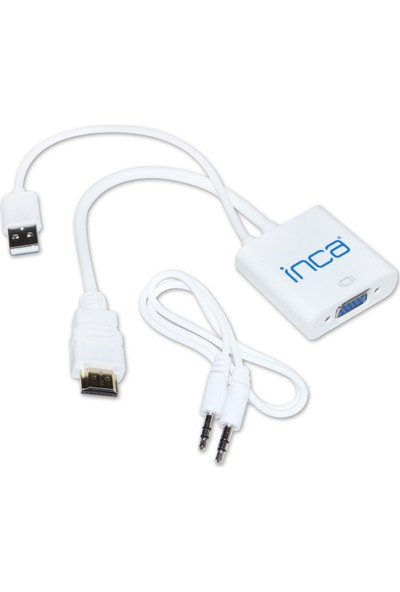 Inca Vga To HDMI Çevirici USB ve Ses Kablosu IVTH-01