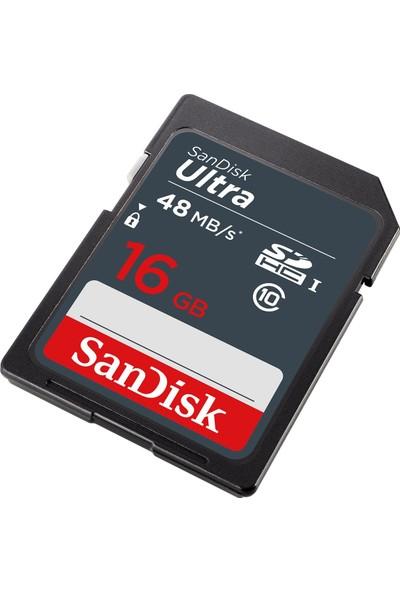 SanDisk Ultra SDHC 16GB 48MB/s Class 10 UHS-I Hafıza Kartı SDSDUNB-016G-GN3IN