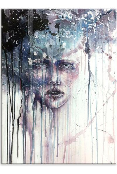 Meteor Galeri Kadın İllüstrasyon Dekoratif Kanvas Tablo