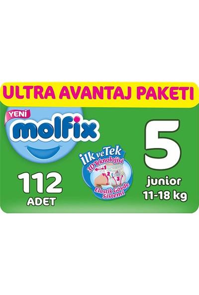 Molfix 3D Bebek Bezi, Junior 5 Beden, Ultra Avantaj Paketi