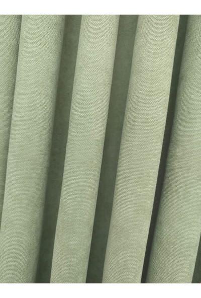 Caserta Home Düz Su Yeşili Sık Pileli Tek Kanat Fon Perde - Melis Ada V14